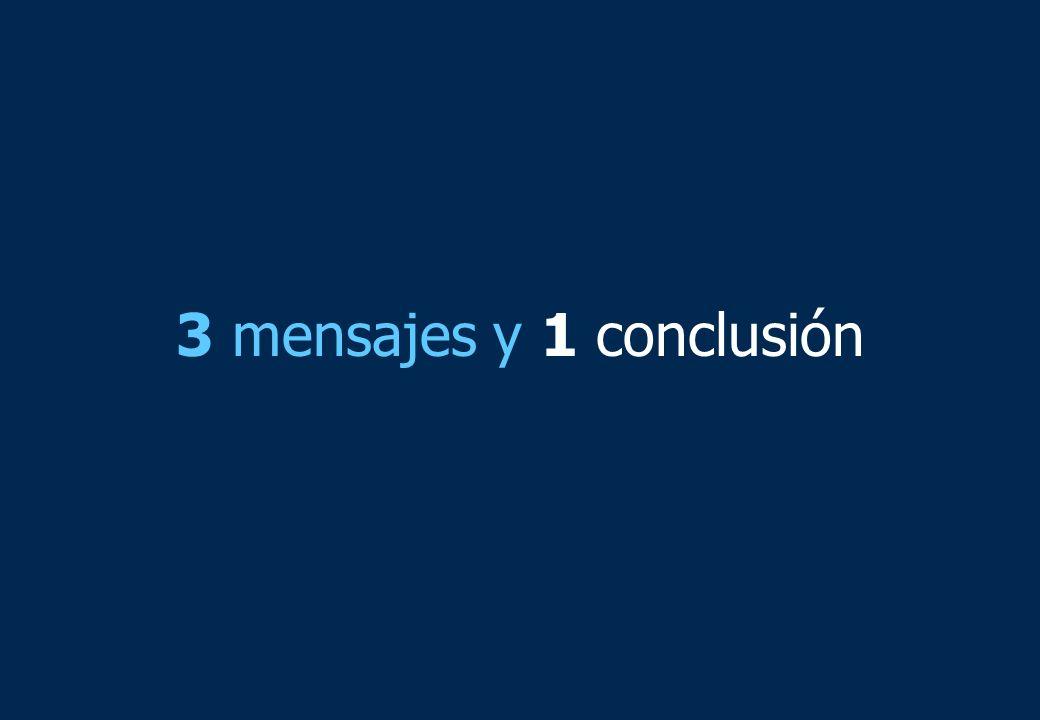 3 mensajes y 1 conclusión
