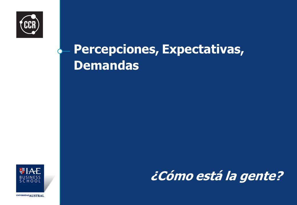 Percepciones, Expectativas, Demandas ¿Cómo está la gente?