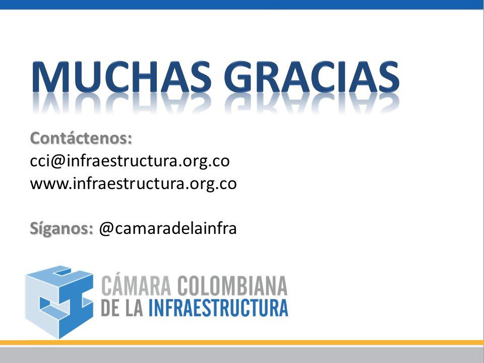 Contáctenos: cci@infraestructura.org.co www.infraestructura.org.co Síganos: Síganos: @camaradelainfra