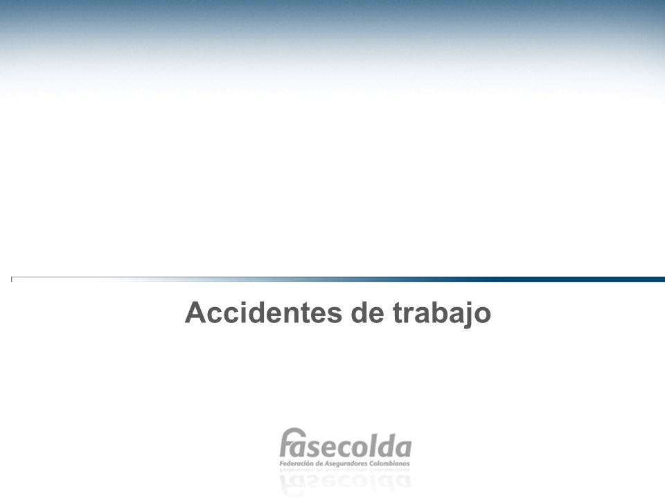 Indicadores de accidentalidad En lo que respecta al tema de seguridad y salud en el trabajo, en Colombia se ha logrado estabilizar la tasa de accidentalidad en el trabajo.