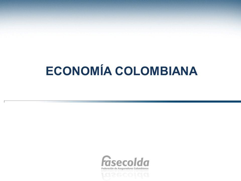 Crecimiento anual Producto Interno Bruto DANE Colombia vio afectada la economía a raíz de la crisis financiera internacional.