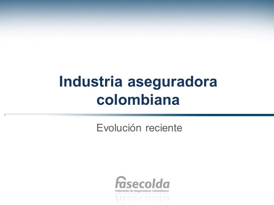 Industria aseguradora colombiana Evolución reciente