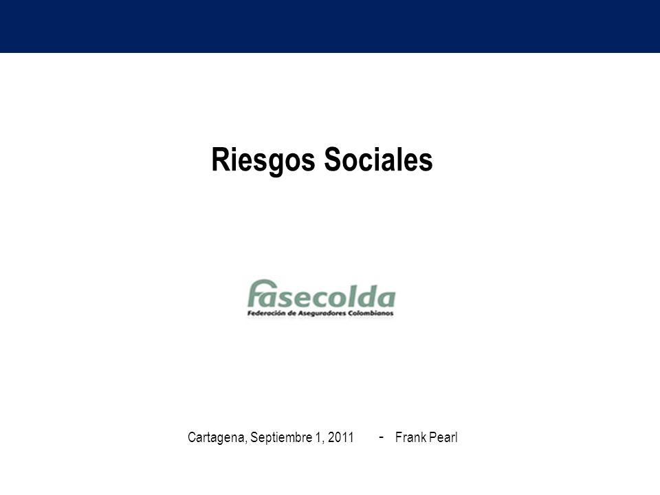 Riesgos Sociales Cartagena, Septiembre 1, 2011 - Frank Pearl