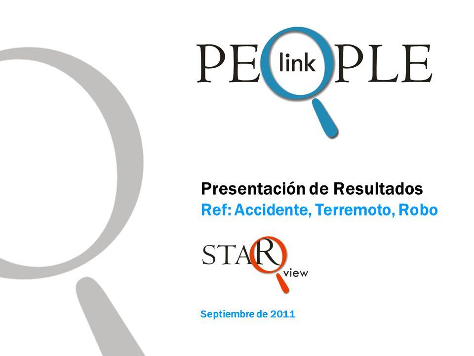 Presentación de Resultados Ref: Accidente, Terremoto, Robo Septiembre de 2011
