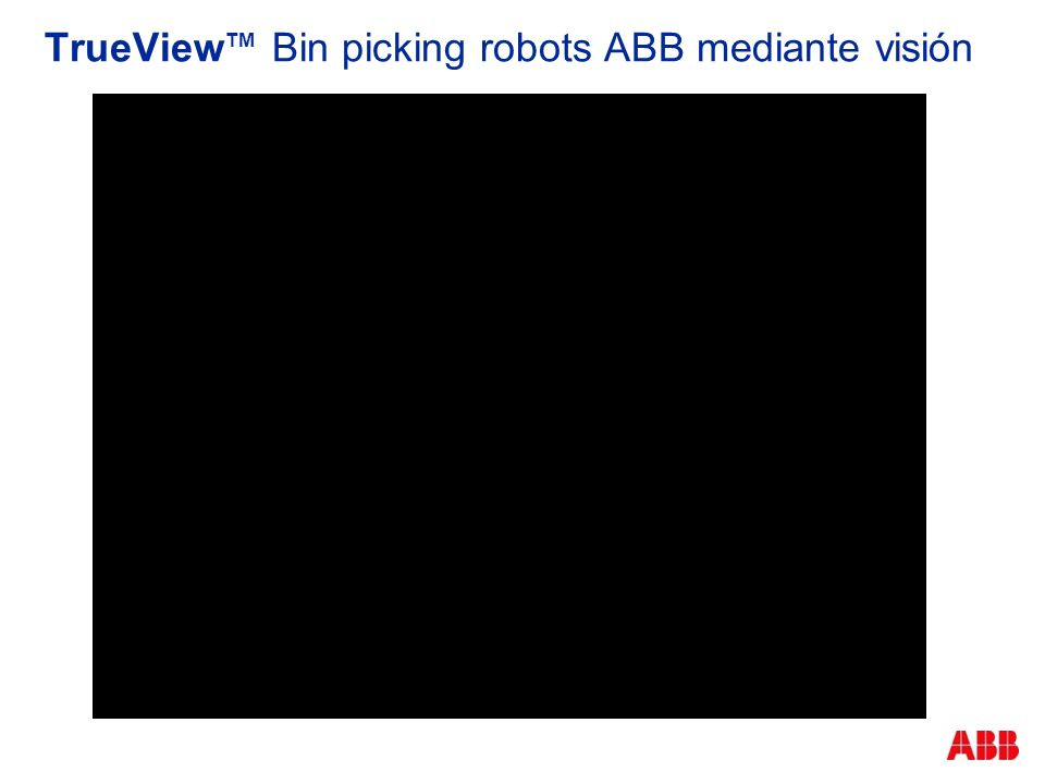 TrueView TM Bin picking robots ABB mediante visión