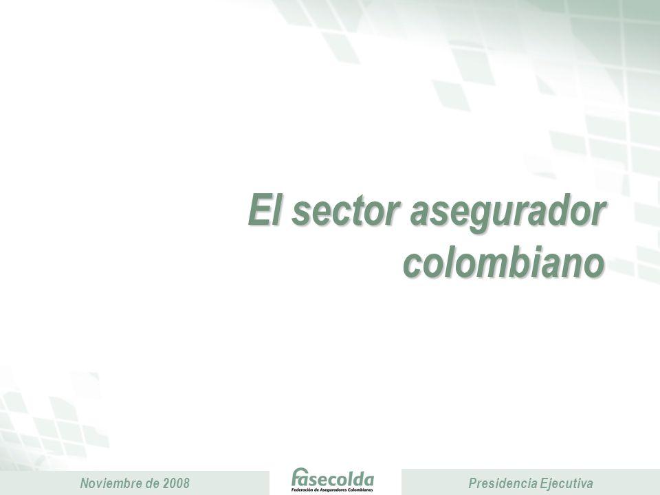 Presidencia Ejecutiva Noviembre de 2008 Presidencia Ejecutiva Economía y seguros