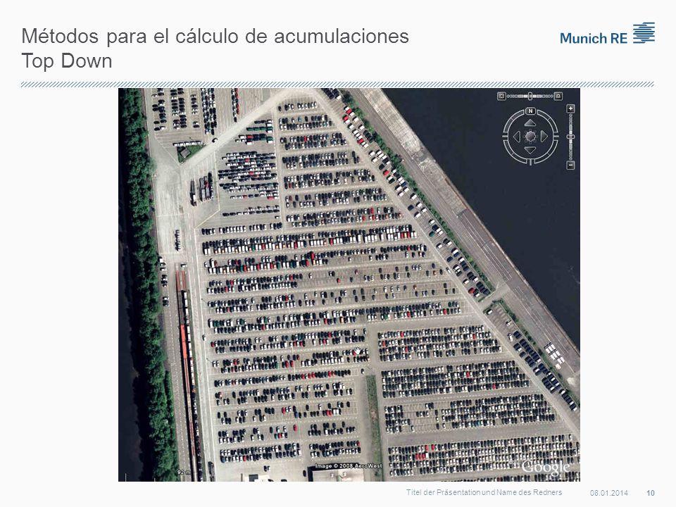 Métodos para el cálculo de acumulaciones Top Down 08.01.2014 10 Titel der Präsentation und Name des Redners