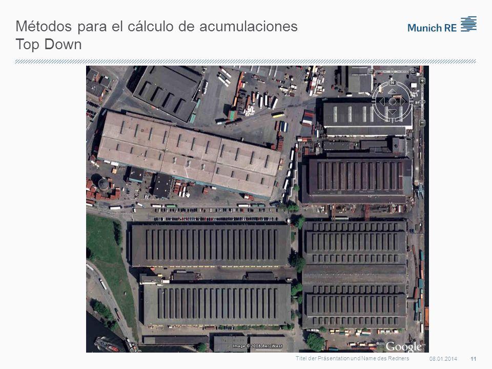 Métodos para el cálculo de acumulaciones Top Down 08.01.2014 11 Titel der Präsentation und Name des Redners
