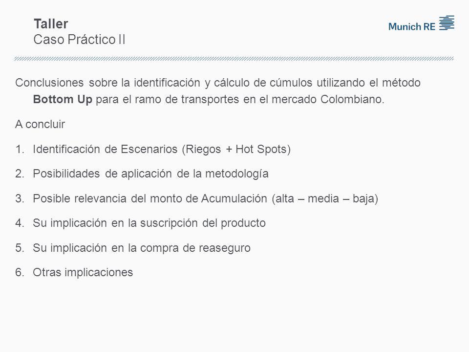 Taller Caso Práctico II Conclusiones sobre la identificación y cálculo de cúmulos utilizando el método Bottom Up para el ramo de transportes en el mercado Colombiano.
