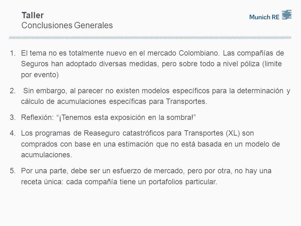 Taller Conclusiones Generales 1.El tema no es totalmente nuevo en el mercado Colombiano.