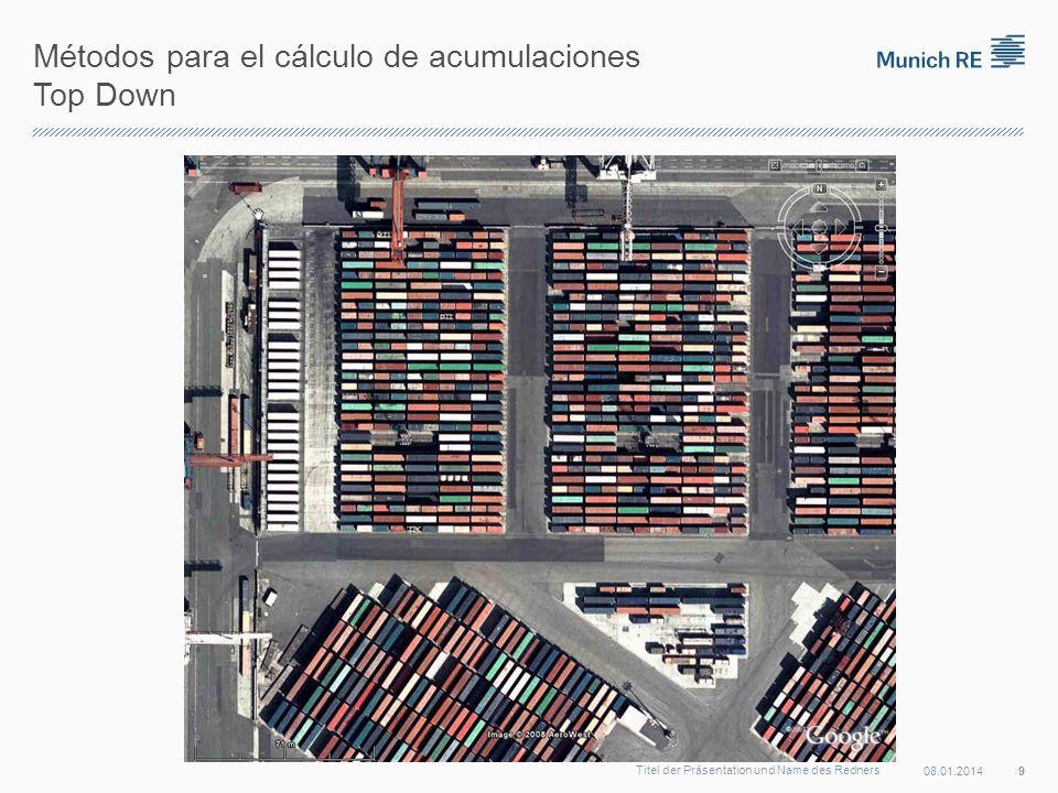 Métodos para el cálculo de acumulaciones Top Down 08.01.2014 9 Titel der Präsentation und Name des Redners