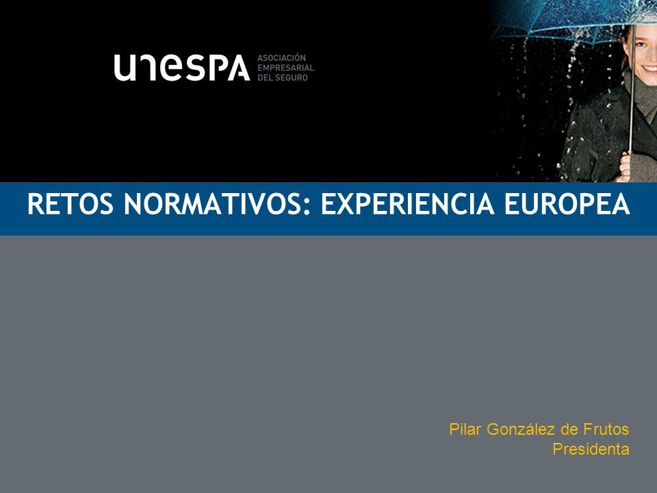 RETOS NORMATIVOS: EXPERIENCIA EUROPEA Pilar González de Frutos Presidenta