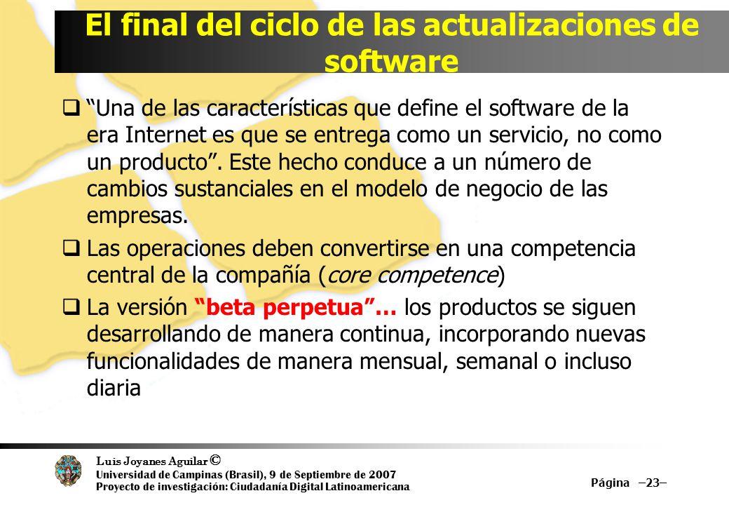 Luis Joyanes Aguilar © Universidad de Campinas (Brasil), 9 de Septiembre de 2007 Proyecto de investigación: Ciudadanía Digital Latinoamericana Una de
