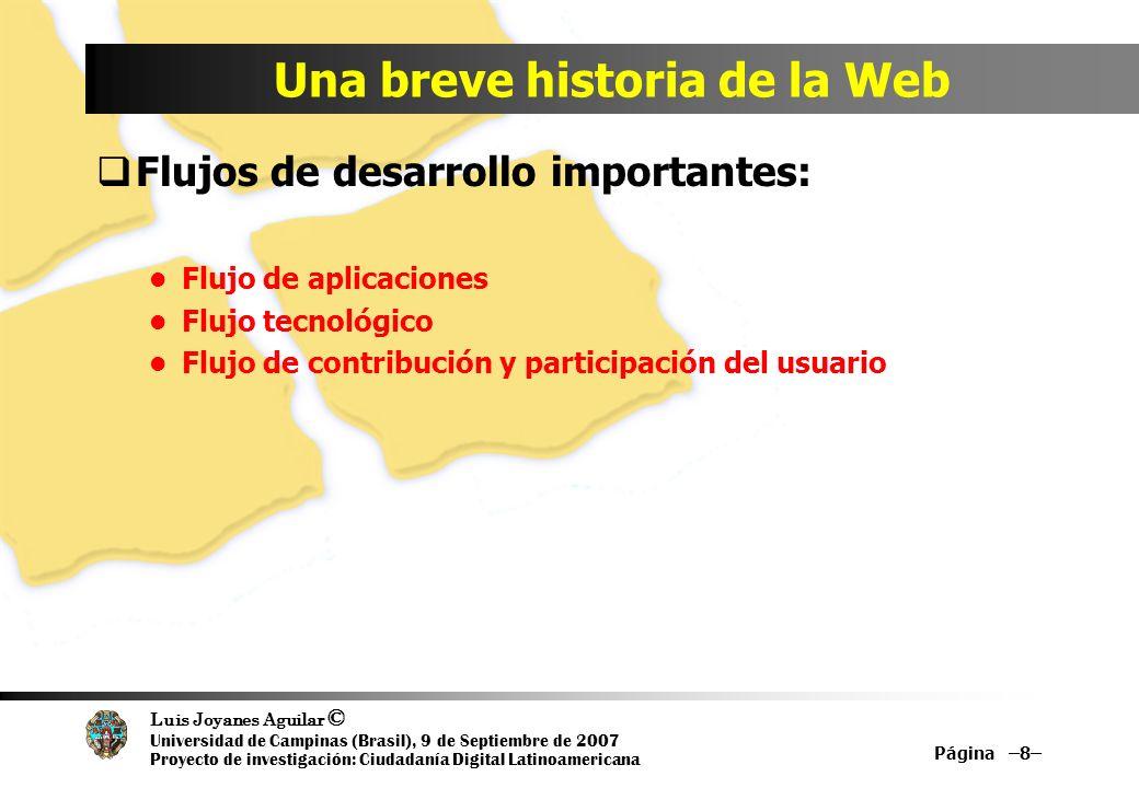 Luis Joyanes Aguilar © Universidad de Campinas (Brasil), 9 de Septiembre de 2007 Proyecto de investigación: Ciudadanía Digital Latinoamericana Página –19– meme map of Web 2.0