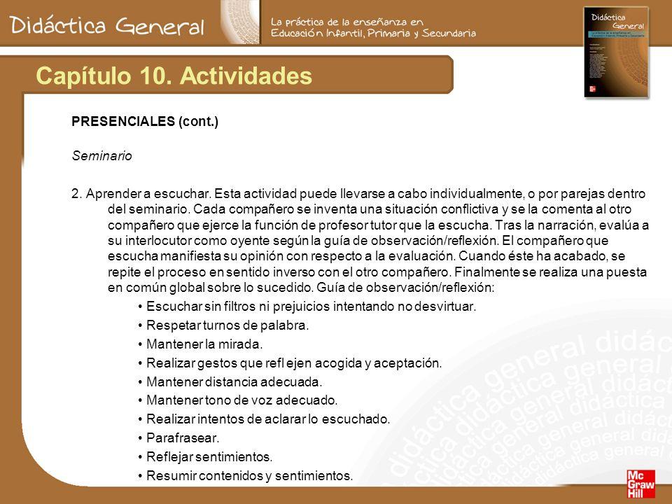 Capítulo 10.Actividades PRESENCIALES (cont.) Seminario 2.