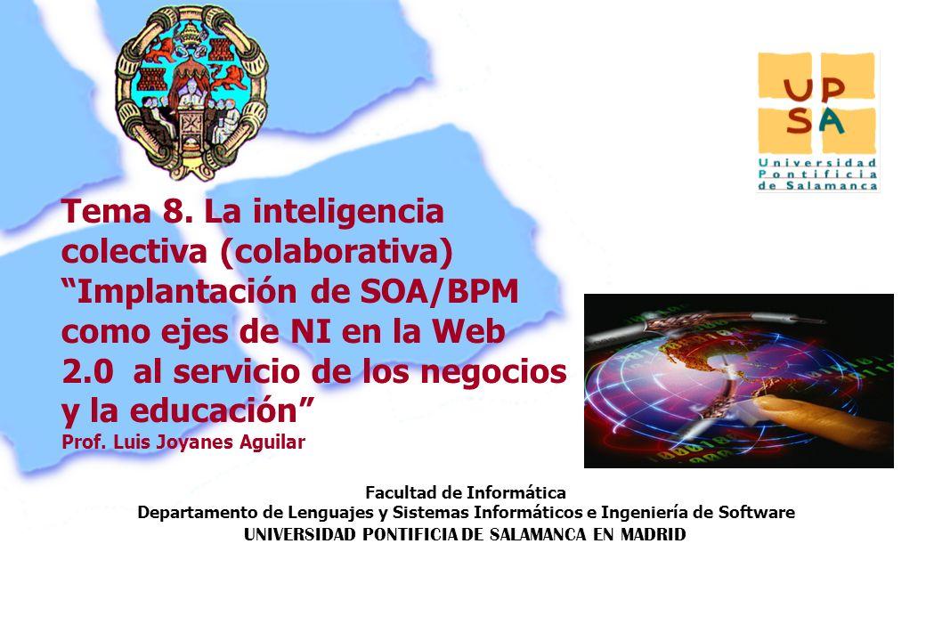 Facultad de Informática Departamento de Lenguajes y Sistemas Informáticos e Ingeniería de Software UNIVERSIDAD PONTIFICIA DE SALAMANCA EN MADRID 118 P