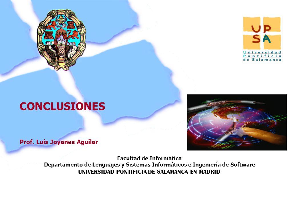 Facultad de Informática Departamento de Lenguajes y Sistemas Informáticos e Ingeniería de Software UNIVERSIDAD PONTIFICIA DE SALAMANCA EN MADRID 134 P