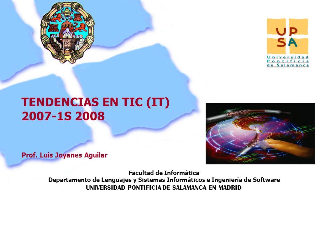 Facultad de Informática Departamento de Lenguajes y Sistemas Informáticos e Ingeniería de Software UNIVERSIDAD PONTIFICIA DE SALAMANCA EN MADRID 22 Pr