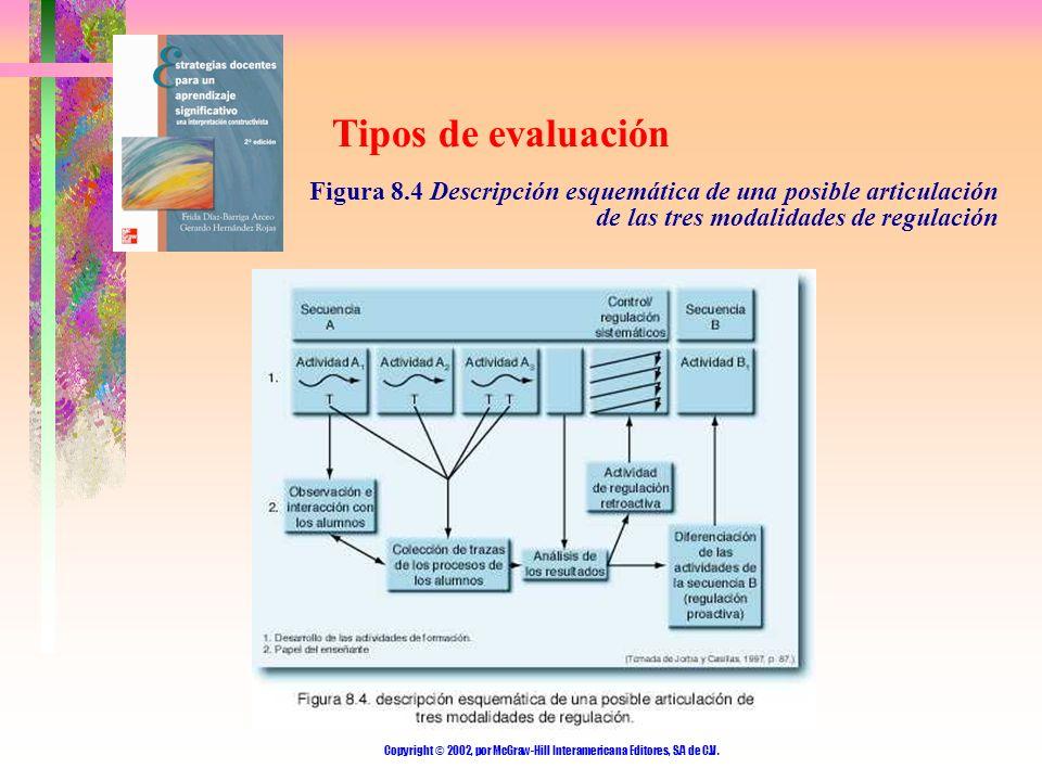 Copyright © 2002, por McGraw-Hill Interamericana Editores, S.A de C.V. Tipos de evaluación Figura 8.4 Descripción esquemática de una posible articulac