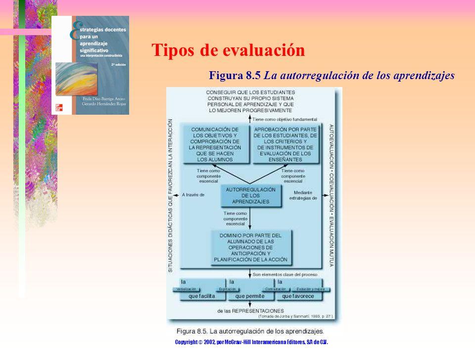 Copyright © 2002, por McGraw-Hill Interamericana Editores, S.A de C.V. Tipos de evaluación Figura 8.5 La autorregulación de los aprendizajes