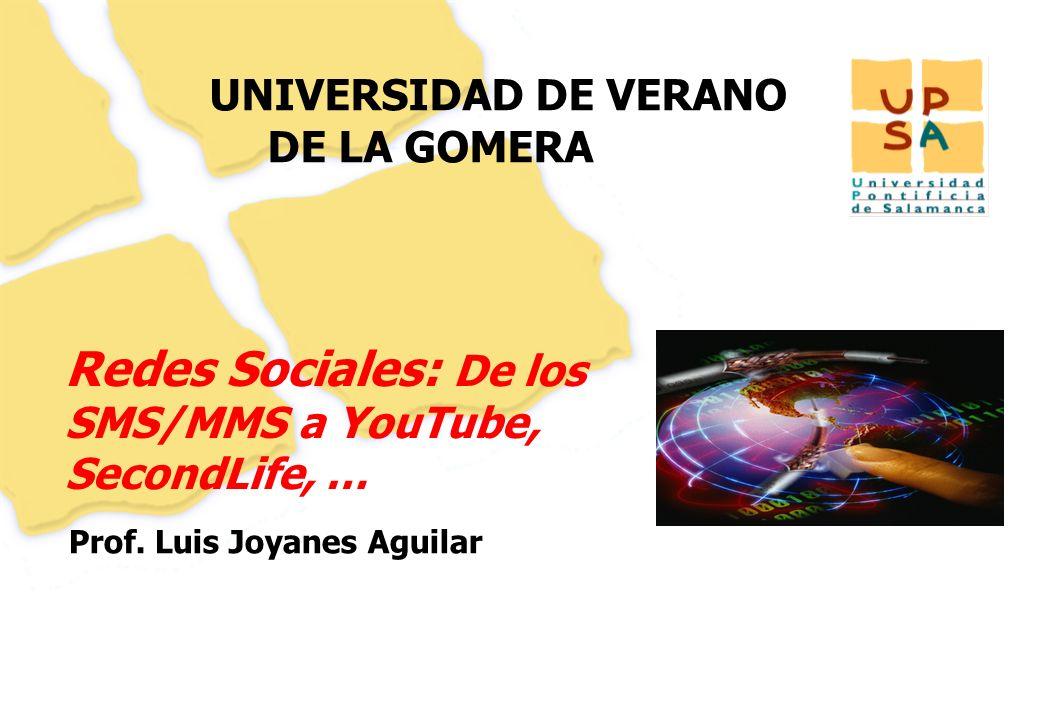 1 UNIVERSIDAD DE VERANO DE LA GOMERA Prof.