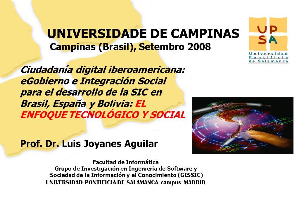 Luis Joyanes Aguilar © UNIVERSIDAD DE CAMPINAS (Brasil) Proyecto AECID: Ciudadania digital iberoamericana, Septiembre 2008 Página –12– Infraestructuras de innovación (FEDIT) CEEI (Centros Europeos de Empresas Innovadoras) La Comisión Europea lanzó el programa CEEI en 1984.