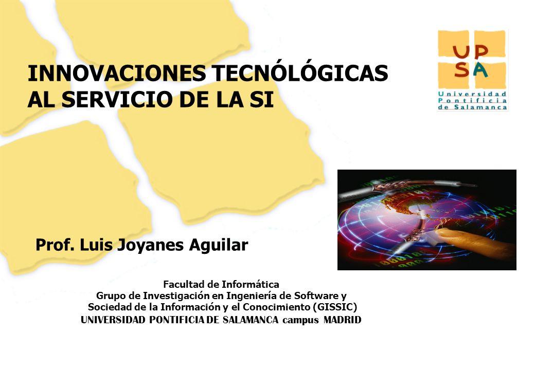 Luis Joyanes Aguilar © Faculdade Cásper Líbero, Sao Paulo (Brasil) Proyecto AECID: Ciudadania digital iberoamericana, Septiembre 2008 Página –113– Referencias Luis Joyanes Aguilar Dr.