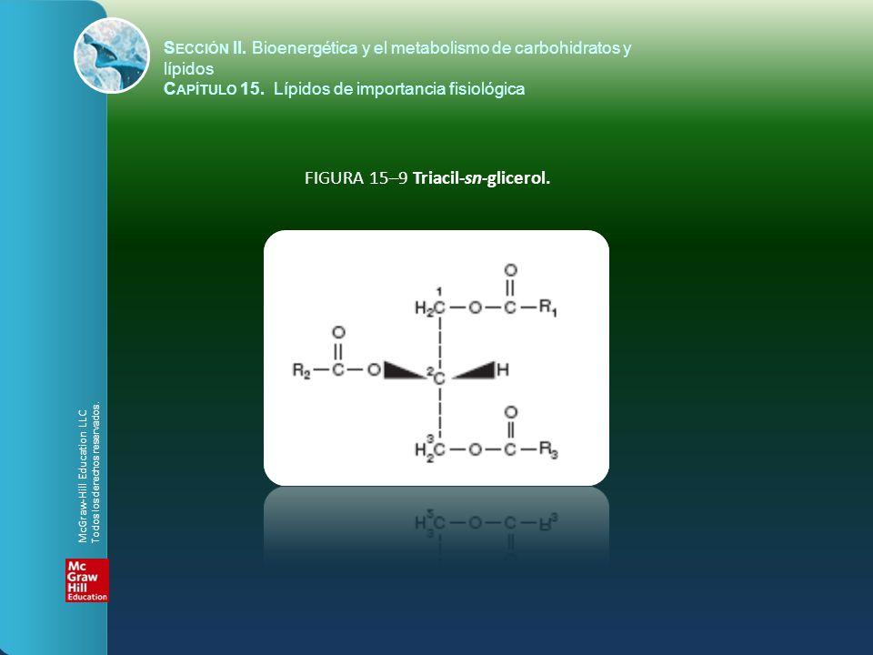 FIGURA 15–9 Triacil-sn-glicerol. S ECCIÓN II. Bioenergética y el metabolismo de carbohidratos y lípidos C APÍTULO 15. Lípidos de importancia fisiológi