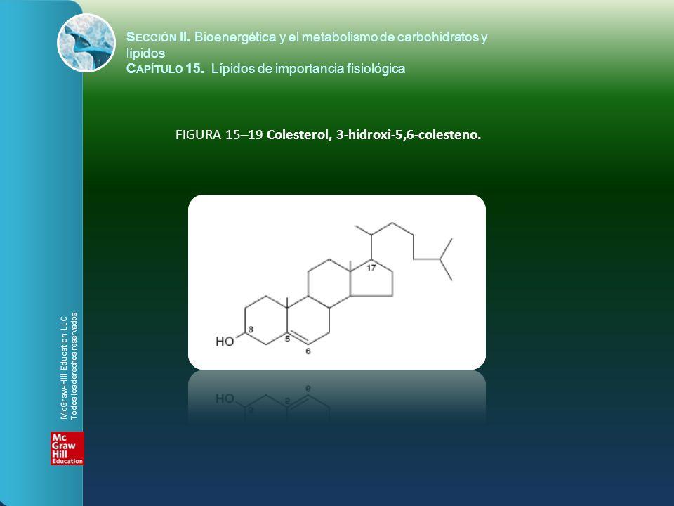 FIGURA 15–19 Colesterol, 3-hidroxi-5,6-colesteno. S ECCIÓN II. Bioenergética y el metabolismo de carbohidratos y lípidos C APÍTULO 15. Lípidos de impo