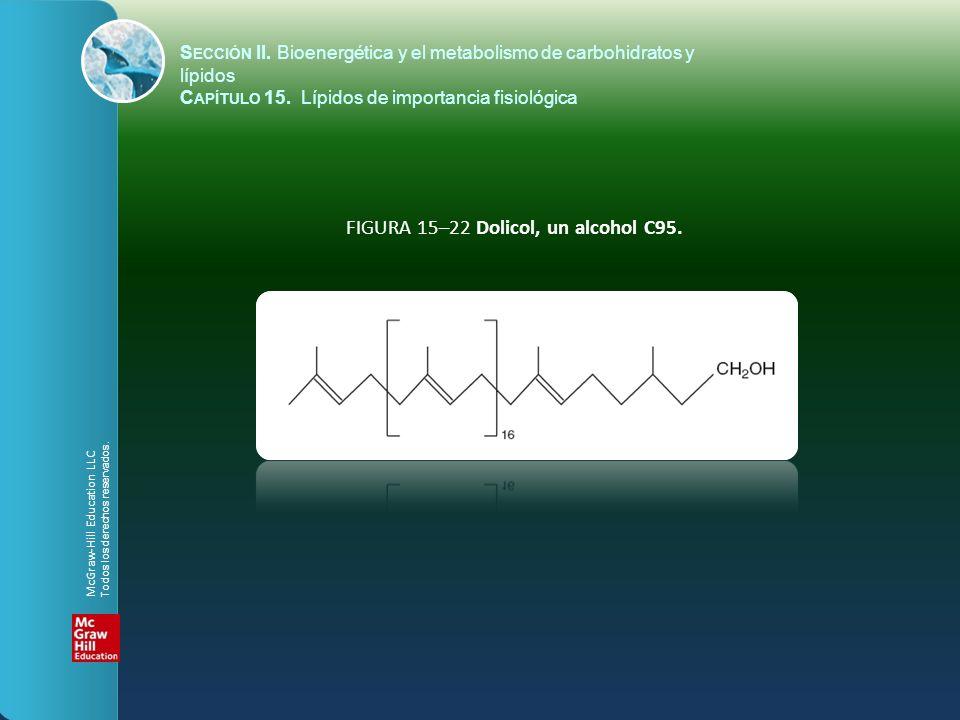 FIGURA 15–22 Dolicol, un alcohol C95. S ECCIÓN II. Bioenergética y el metabolismo de carbohidratos y lípidos C APÍTULO 15. Lípidos de importancia fisi