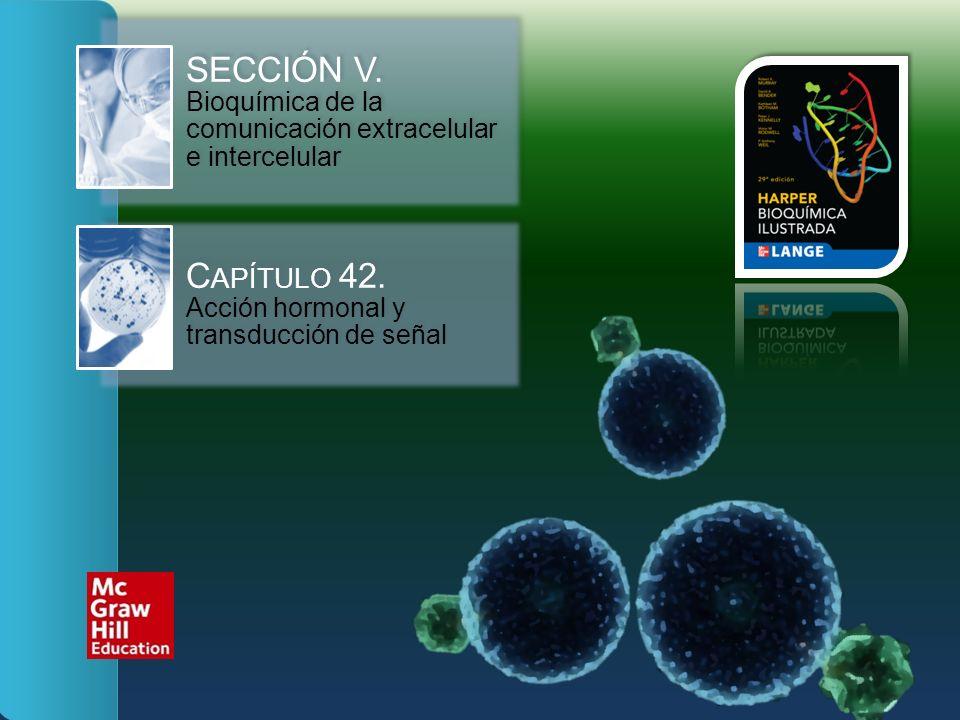 SECCIÓN V. Bioquímica de la comunicación extracelular e intercelular C APÍTULO 42. Acción hormonal y transducción de señal