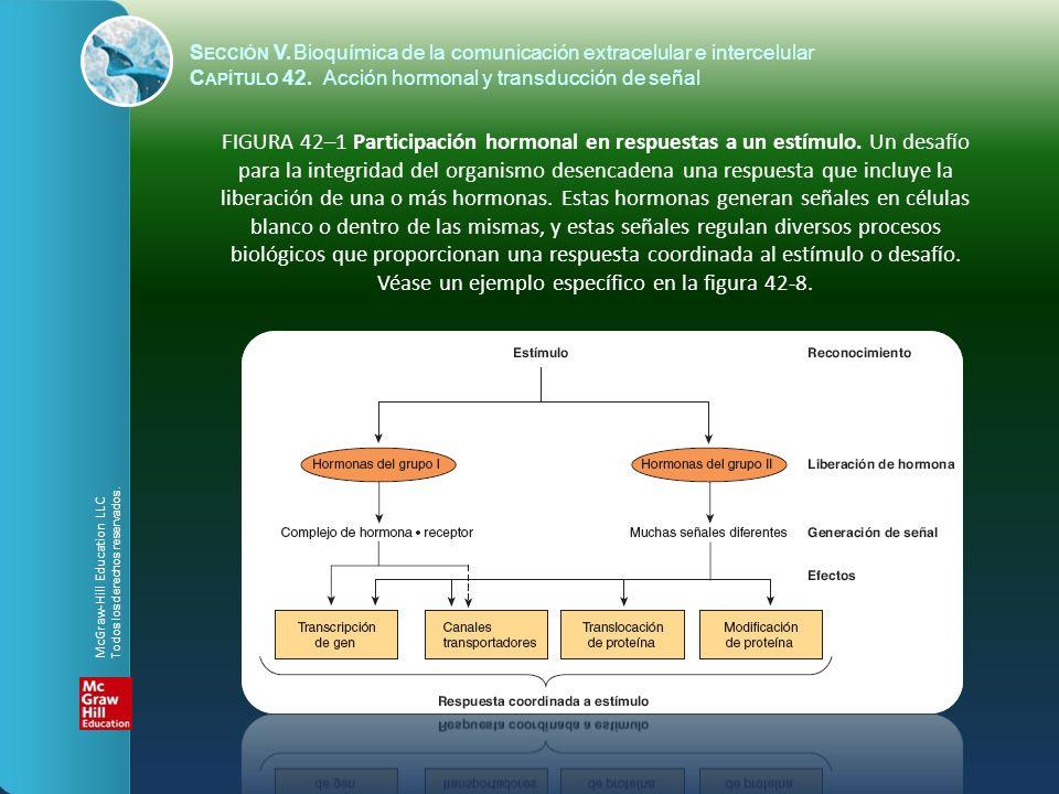 S ECCIÓN V.Bioquímica de la comunicación extracelular e intercelular C APÍTULO 42. Acción hormonal y transducción de señal FIGURA 42–1 Participación h
