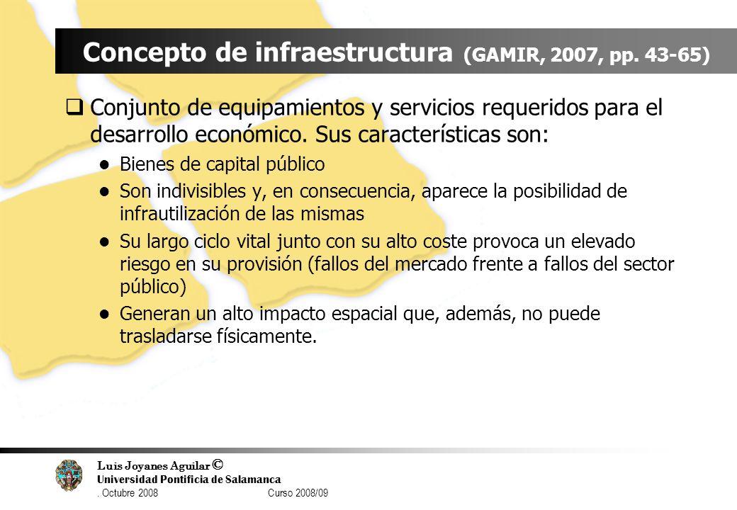 Luis Joyanes Aguilar © Universidad Pontificia de Salamanca. Octubre 2008 Curso 2008/09 Concepto de infraestructura (GAMIR, 2007, pp. 43-65) Conjunto d