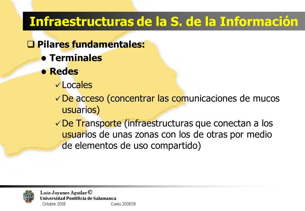 Luis Joyanes Aguilar © Universidad Pontificia de Salamanca. Octubre 2008 Curso 2008/09 Infraestructuras de la S. de la Información Pilares fundamental