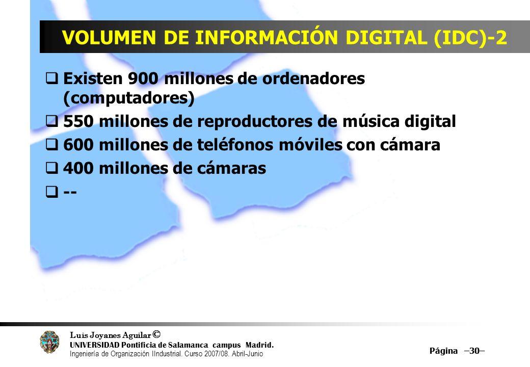 Luis Joyanes Aguilar © UNIVERSIDAD Pontificia de Salamanca campus Madrid. Ingeniería de Organización IIndustrial. Curso 2007/08. Abril-Junio Página –3