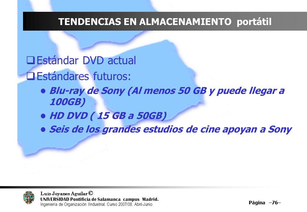 Luis Joyanes Aguilar © UNIVERSIDAD Pontificia de Salamanca campus Madrid. Ingeniería de Organización IIndustrial. Curso 2007/08. Abril-Junio Página –7