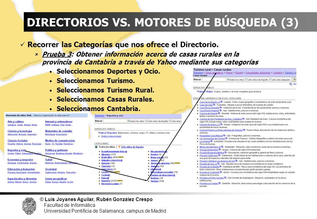 © Luis Joyanes Aguilar, Rubén González Crespo Facultad de Informática Universidad Pontificia de Salamanca, campus de Madrid INDICE DIRECTORIOS VS. MOT