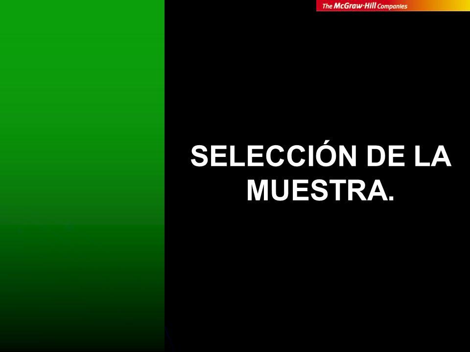 SELECCIÓN DE LA MUESTRA.