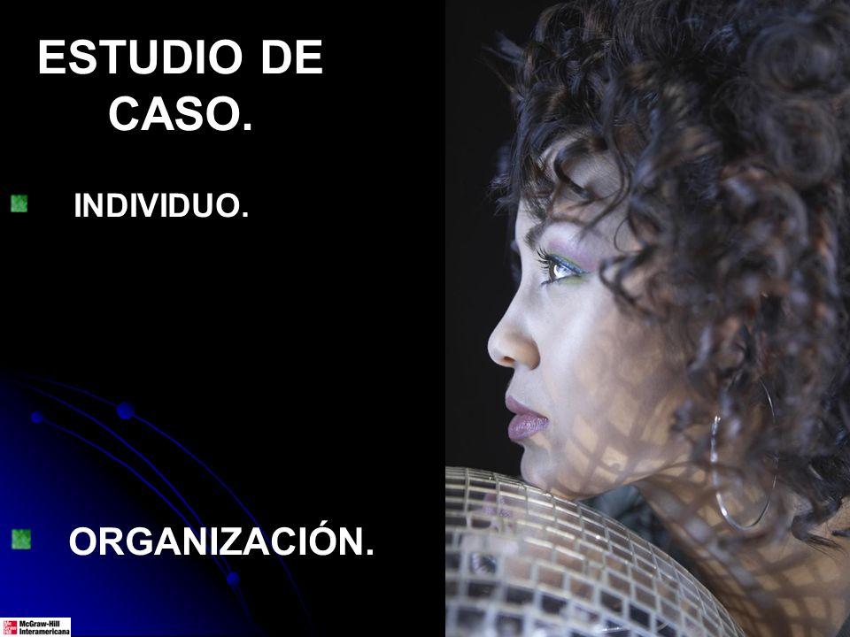 ESTUDIO DE CASO. INDIVIDUO. ORGANIZACIÓN.