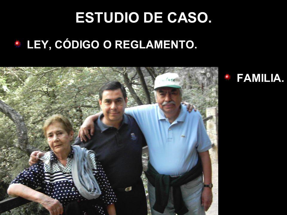 ESTUDIO DE CASO. LEY, CÓDIGO O REGLAMENTO. FAMILIA.