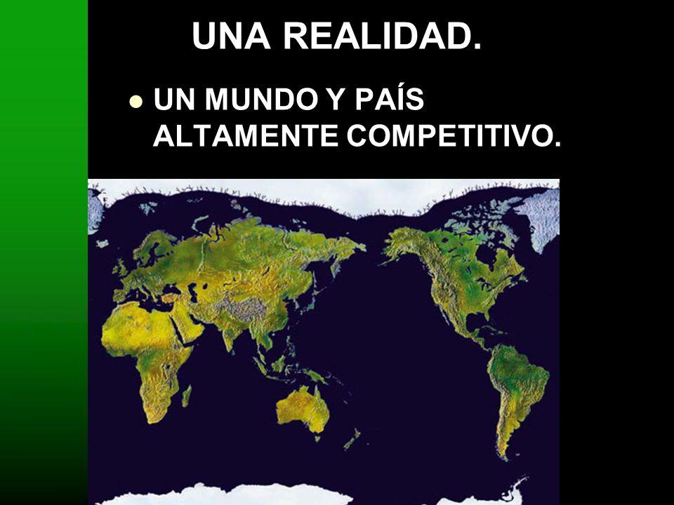 UNA REALIDAD. UN MUNDO Y PAÍS ALTAMENTE COMPETITIVO.
