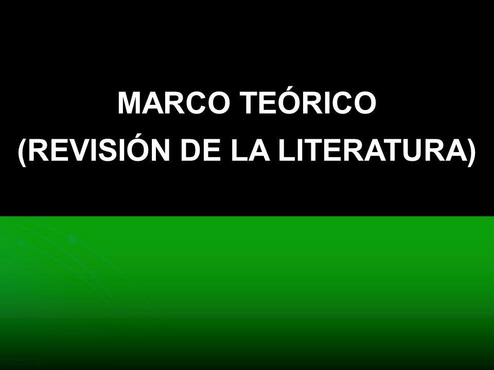 MARCO TEÓRICO (REVISIÓN DE LA LITERATURA)
