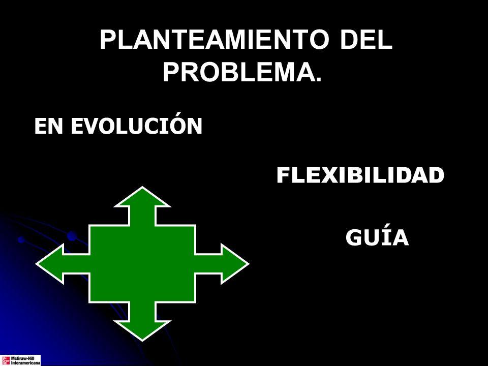 PLANTEAMIENTO DEL PROBLEMA. FLEXIBILIDAD GUÍA EN EVOLUCIÓN