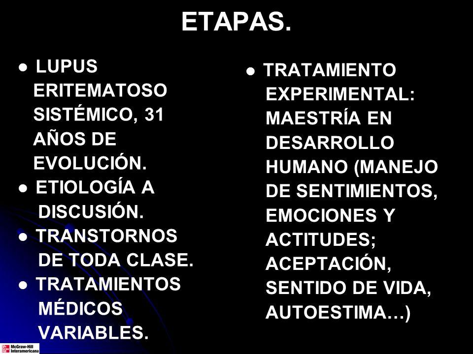 EJEMPLO DEL MODELO DE DOS ETAPAS. LUPUS.