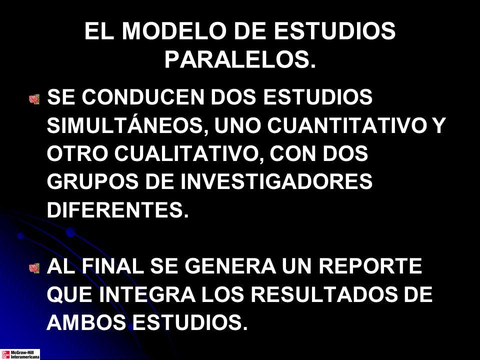 EL MODELO DE ESTUDIOS PARALELOS.