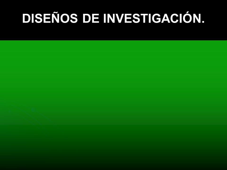 DISEÑOS DE INVESTIGACIÓN.