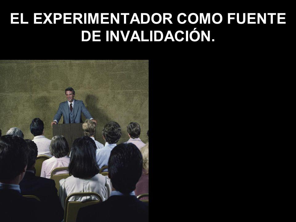 EL EXPERIMENTADOR COMO FUENTE DE INVALIDACIÓN.