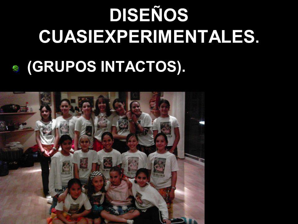 DISEÑOS CUASIEXPERIMENTALES. (GRUPOS INTACTOS).
