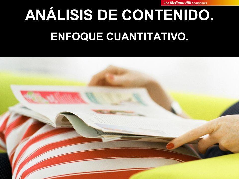 ANÁLISIS DE CONTENIDO. ENFOQUE CUANTITATIVO.