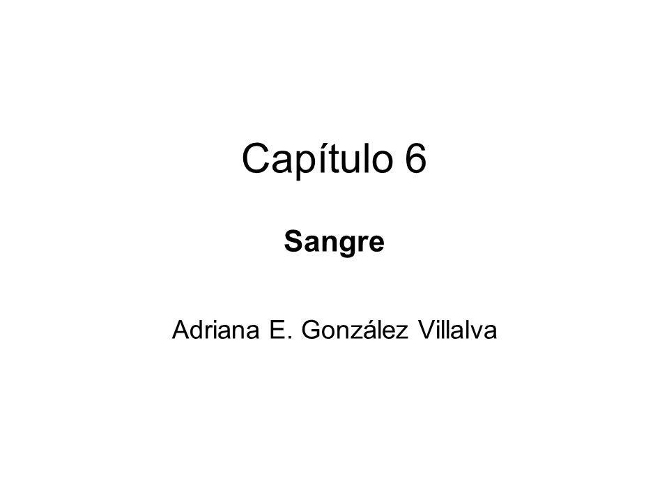 Capítulo 6 Sangre Adriana E. González Villalva